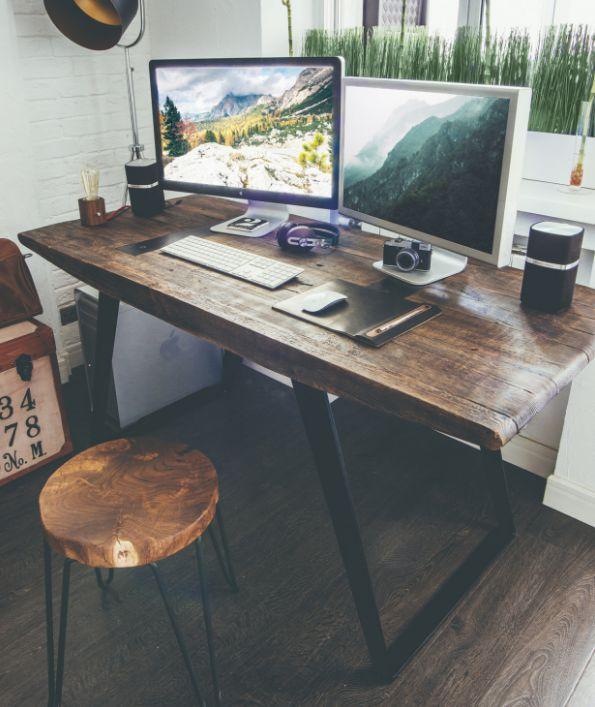ahşap home ofis çalışma masaları 2018