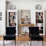 altın detaylar ile modern salon dekorasyonu