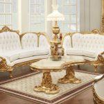 altın rengi lüx salon dekorasyonu