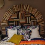dekoratif yatak başı dekorasyonu
