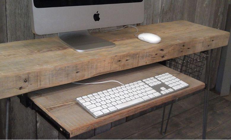 eski ahşap çalışma masası diy