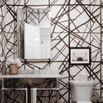 geometrik desenli modern duvar kağıtları 2018