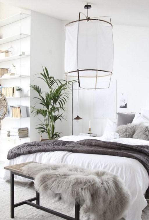 iskandinav yatak odası dekoru 2018