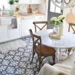 küçük desen mutfak zemin fayans modelleri 2018
