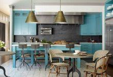 mavi mutfaklar için dekor fikirleri 2018