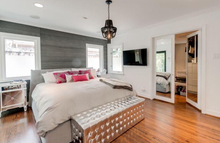 metalik renk modern yatak odası bank modeli