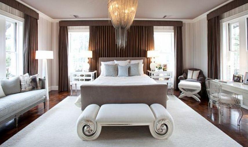 modern yatak odası bankları