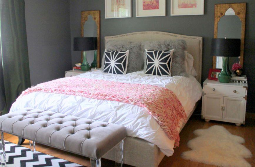 modern yatak ucu bank dekorasyonu