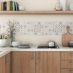 mutfak modern fayans dekorasyonu