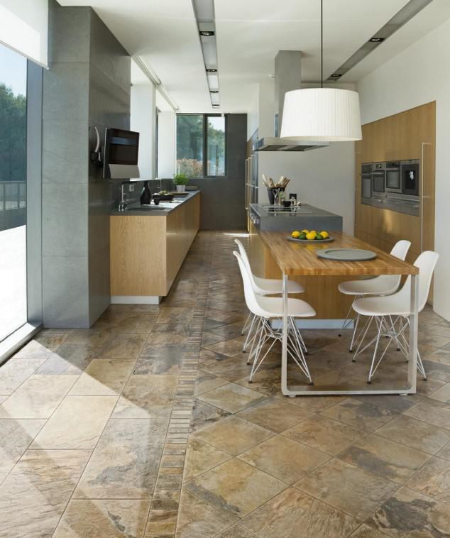 Kitchen Flooring Ideas 2018: Mutfak Zemin Fayansı İçin 18 Güzel Örnekler