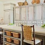mutfakta hasır sepet kullanımı