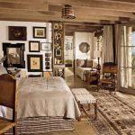 rustik tarz yatak odası