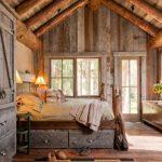 rustik yatak odası dekorasyonu - aydınlatma