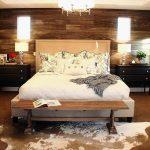 rustik yatak odası dekorasyonu - halı