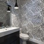 tuvalet için siyah beyaz duvar kağıtları 2018