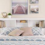 yatak arkası kitaplık dekorasyon fikirleri 2018