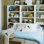 yatak arkası kitaplık dekorasyon örnekleri 2018