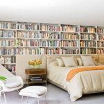 yatak arkası kitaplık dekorasyonu 2018