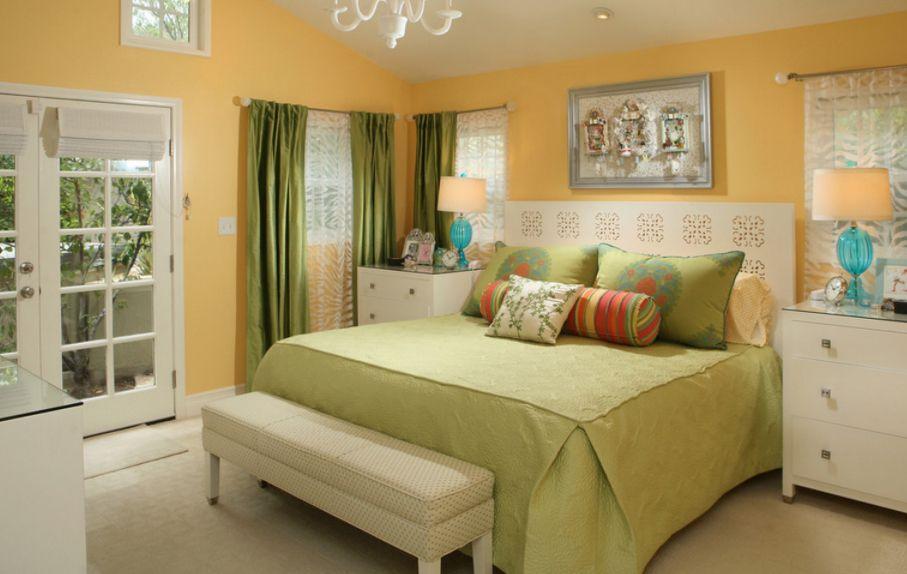 yatak odası dekoratif puf modeli