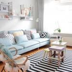 açık mavi ev dekorasyon fikirleri