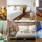 ahşap palet yatak dekorasyonları 2018