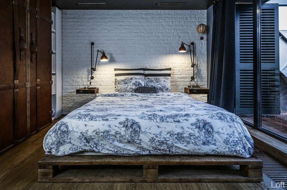 Ahsap Palet Yataklar Ile Sicak Ve Ozel Yatak Odalari Ev Dekorasyonu