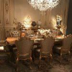 Barok tarzda yemek odası mobilyaları