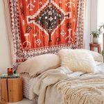 boho yatak odası dekorasyonu 2018
