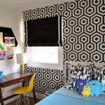 çocuk odası siyah beyaz duvar kağıdı modeli 2018