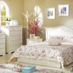 country tarzı yatak odası dekorasyonu