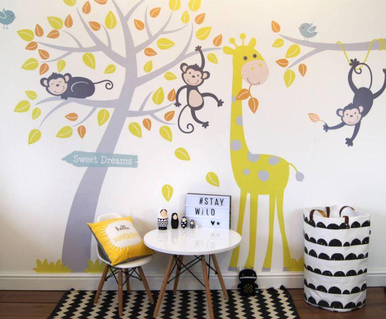 dekoratif duvar çıkartmaları