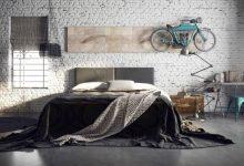 endüstriyel yatak odası dekorasyonu
