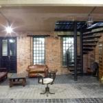 eski tuğla duvarlar ile endüstriyel ev dekorasyonları