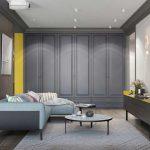 gri ile modern oturma odası dekor fikirleri