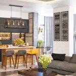 gri ile modern salon dekorasyon ipuçları