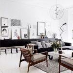 iskandinav oturma odası dekorasyonu 2018