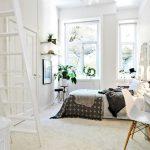 iskandinav tarzı yatak odası dekorasyonu