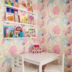 kız çocuk odası için duvar kağıdı modelleri