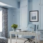 mavi boya ile ev dekorasyonu fikirleri