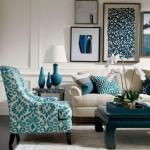 mavi ile ev dekoru