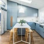 mavi ile mutfak dekoru 2018
