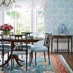 mavi renk sonbahar ev dekorasyon fikirleri 2018