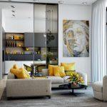 modern gri salon dekorasyon fikirleri 2019 2020