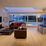modern şömine ile salon dekoru