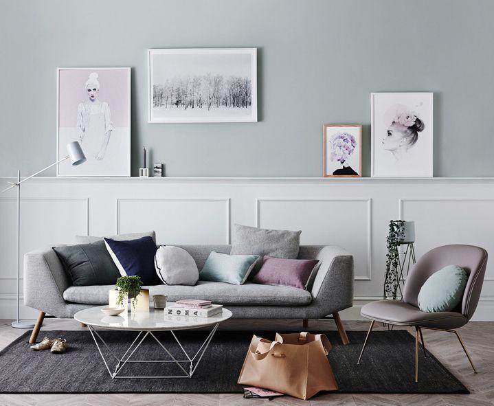Pastel renk tonlar ile salon dekorasyonu 2018 ev for Salon pastel
