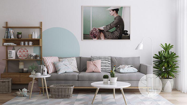 Pastel Renkler Ile Oturma Odası Dekorasyonu 2018 Ev