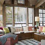 rustik salon dekorasyonu fikirleri