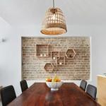 tuğla duvarlar ile endüstriyel dekor fikirleri