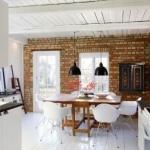 tuğla duvarlar ile endüstriyel mutfaklar