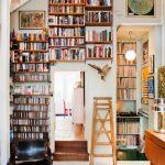 vintage kitaplık dekoru